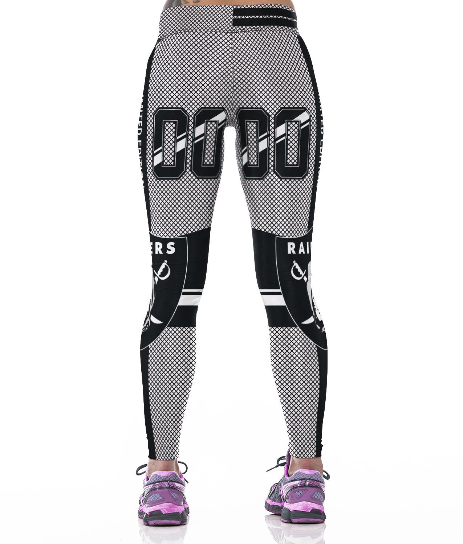 95311d7b8f95d3 Women Oakland Raiders Gym Pants for Females Yoga Elastic NFL Leggings  Wholesale
