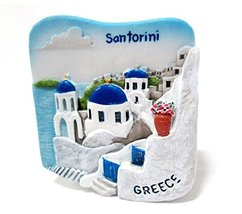 Santorini Greece Souvenir Fridge Magnet Toy Set... - $7.58