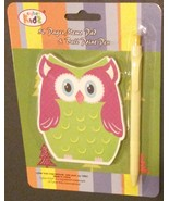 OWL shaped MEMO PAD with PEN 50 pages Notepad Notebook NEW - $6.99
