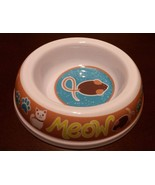"""NEW Cat food or water Bowl, Plastic, 5.5"""", Mouse Meow - $4.99"""