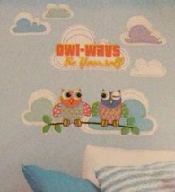 "Owl Wall Stickers Decals ""Owl-Ways Be Yourself"" Animal Birds Jumbo Sticker NEW - $5.99"