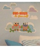 "Owl Wall Stickers Decals ""Owl-Ways Be Yourself"" Animal Birds Jumbo Stick... - $5.99"