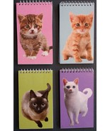 CAT NOTEBOOKS Set of 4 Kitten Animal Pet Note Pad 4x5 NEW - $9.99
