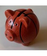 """BASKETBALL PIGGY MONEY BANK Coin Pig Figurine Ceramic 3.5"""" NEW - $8.99"""