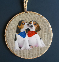 DOG Theme WALL PLAQUE Beagle Puppies Hanging Mat Hot Plate Trivet Spoon ... - $12.99
