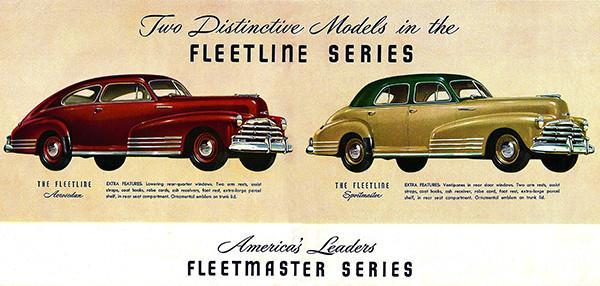 Primary image for 1947 Chevrolet Fleetline Series - Promotional Advertising Poster