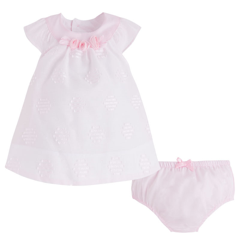 Mayoral Baby Girl 0M-12M Rose-Pink Embroidered Dot Dress