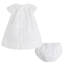 Mayoral Baby Girl 0M-12M Natural-Ivory Embroidered Dot Dress image 2