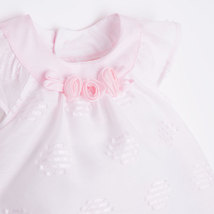Mayoral Baby Girl 0M-12M Rose-Pink Embroidered Dot Dress image 3