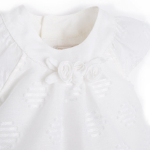Mayoral Baby Girl 0M-12M Natural-Ivory Embroidered Dot Dress image 3