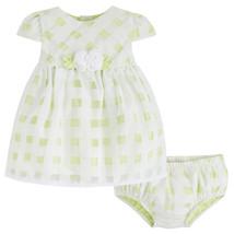 Mayoral Baby Girl 0M-12M Lime-Green Basketweave Check Dress