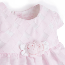 Mayoral Baby Girl 0M-12M Rose-Pink Basketweave Check Dress image 3