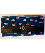 NEW DIRECTIONS WALLET Organizer FISH Pattern Blue Clutch NWOT - $12.99