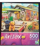 JIGSAW PUZZLE Dogs Gone Fishing 500-piece Artbox NEW - $4.99
