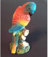 "PARROT FIGURINE Blue Headed Bird 5"" Resin Red NEW - $10.99"