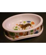 "DOG FOOD BOWL Plastic 8.5"" Oval Dachshund Golden Retriever NEW - $9.99"