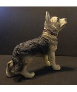 "German Shepherd Dog Figurine puppy animal resin 5"" black & tan NEW - $10.99"