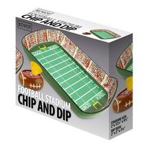 Ceramic Chip And Dip Dish Set Football Stadium Tray Party Snack Bowl - £39.13 GBP