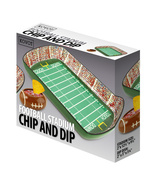 Ceramic Chip And Dip Dish Set Football Stadium Tray Party Snack Bowl - £28.63 GBP