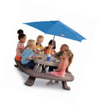 Little Tikes Fold 'n Store Picnic Table with Market Umbrella - $104.64