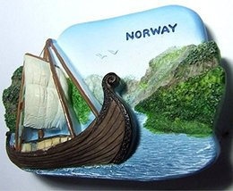Viking Ship Museum NORWAY Souvenir Fridge Magne... - $7.50