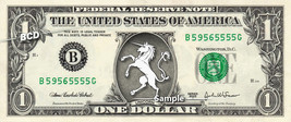 UNICORN on a REAL Dollar Bill Cash Money Collectible Memorabilia Celebri... - $7.77