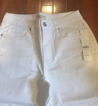 Coldwater Creek White Bootcut Denim Women's Jeans size 4~Natural Fit New - $34.99