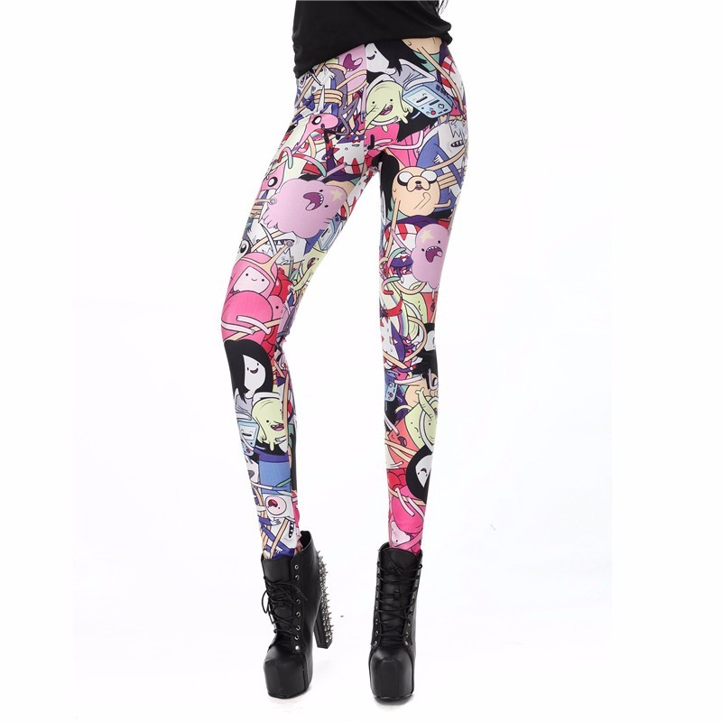 Adventure Time Characters Women's Leggings Yoga Workout Capri Pants