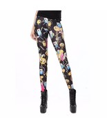 Black Adventure Time Characters Women's Legging... - $18.99