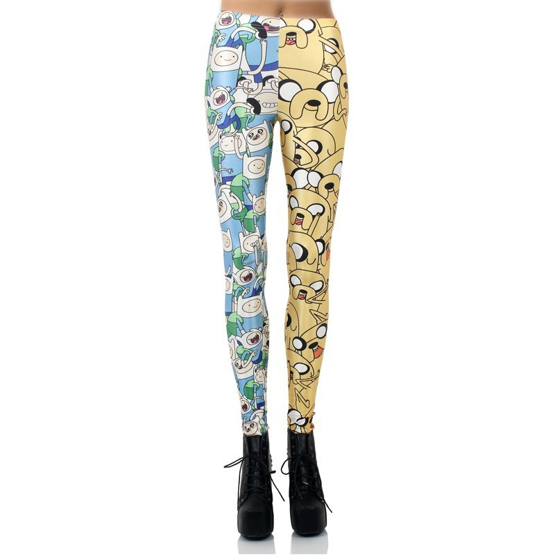 Finn and Jake Adventure Time Women's Leggings Yoga Workout Capri Pants