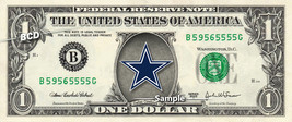 DALLAS COWBOYS Logo on a REAL Dollar Bill Cash Money Collectible Memorab... - $7.77