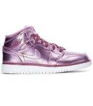 Nike Air Jordan 1 Mid SE GA Pink Rise Big Kids Size 7Y Women Size 8.5 AV5174-640 - $94.05