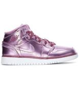 Nike Air Jordan 1 Mid SE GA Pink Rise Big Kids Size 7Y Women Size 8.5 AV... - $94.05