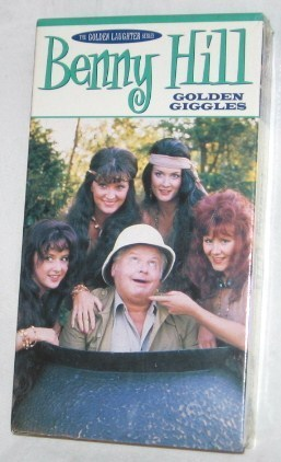 Primary image for Benny Hill - Golden Giggles VHS, 2002, Comedy, NR,  Free Shipping U.S.A.