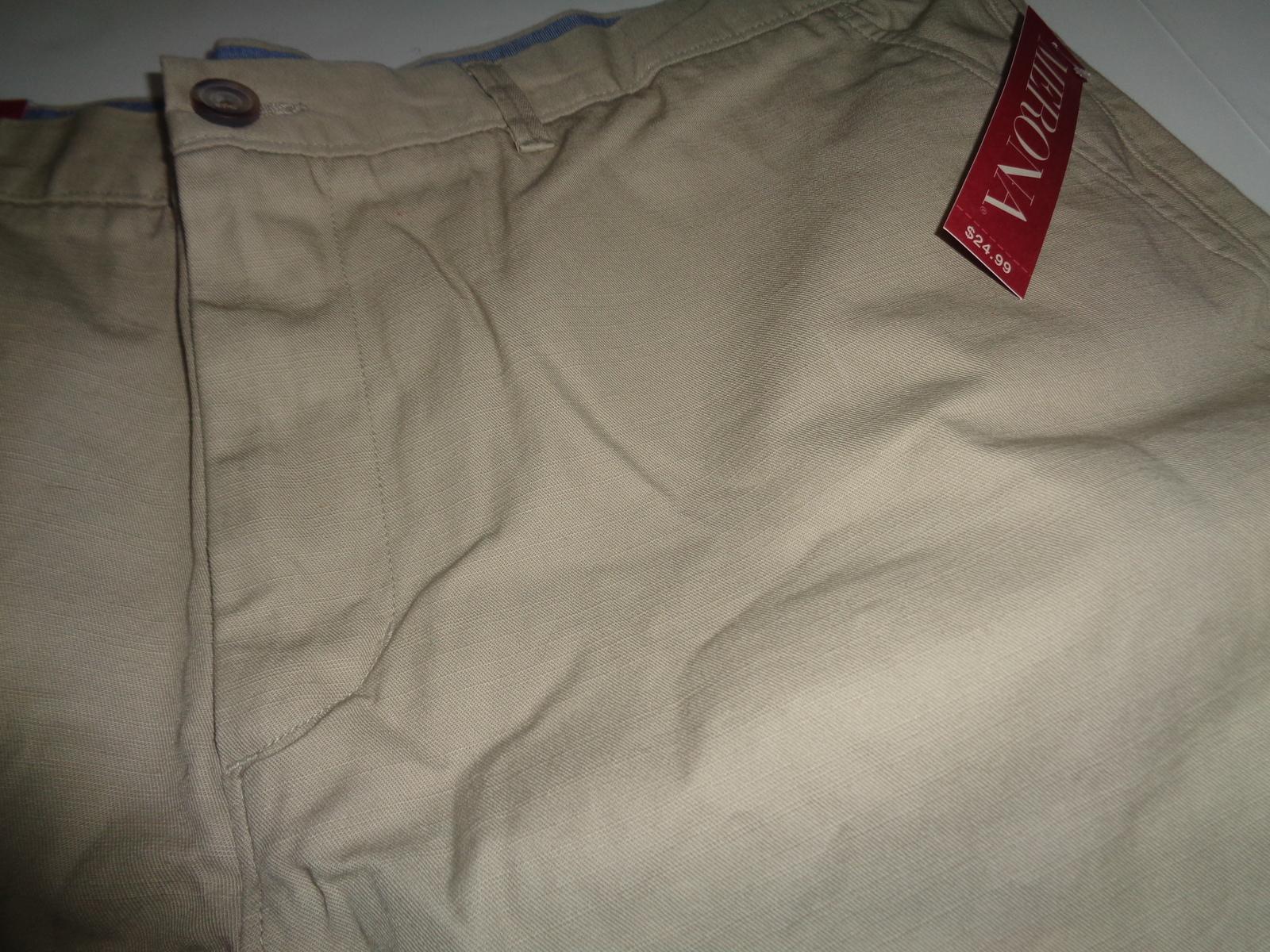 Merona The Club Khaki Men's Shorts NWT  Sz 42 Flat Front