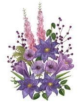 Purple Passion Flowers Cross Stitch Pattern***L@@K***~~ I SEND WORLD-WID... - $4.95