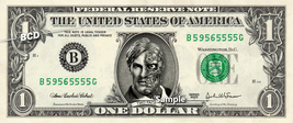 TWO FACE Dark Night on a REAL Dollar Bill Cash Money Collectible Memorab... - $7.77