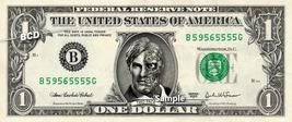 TWO FACE Dark Night on a REAL Dollar Bill Cash Money Collectible Memorabilia Cel - $7.77