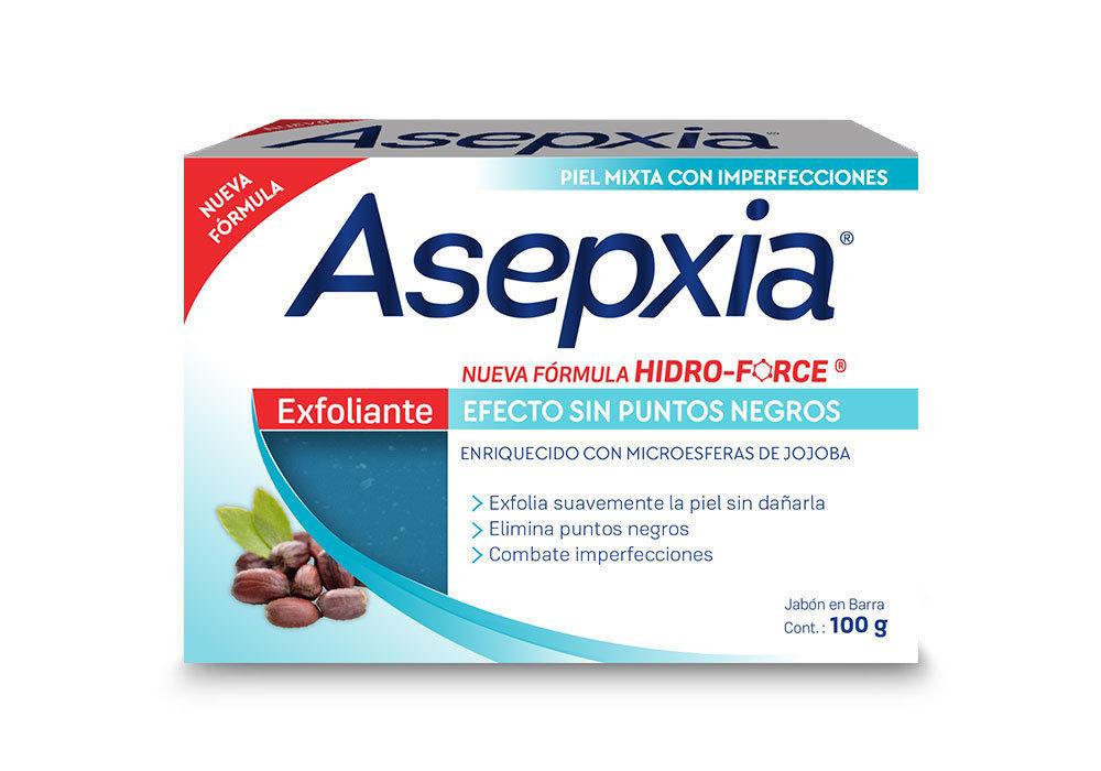 ASEPXIA EXFOLIANTE Efecto Sin Puntos Negros 100g x 2 bars of acne fighting soap
