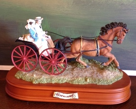 San Francisco Music Box Co - Rhett & Scarlett in Carriage Gone With the ... - $200.00