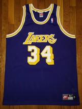 Authentic 98 Nike Los Angeles Lakers Shaquille O'Neal Shaq Road Purple Jersey 52 - $450.00