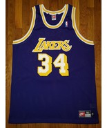 Authentic 98 Nike Los Angeles Lakers Shaquille O'Neal Shaq Road Purple J... - $450.00