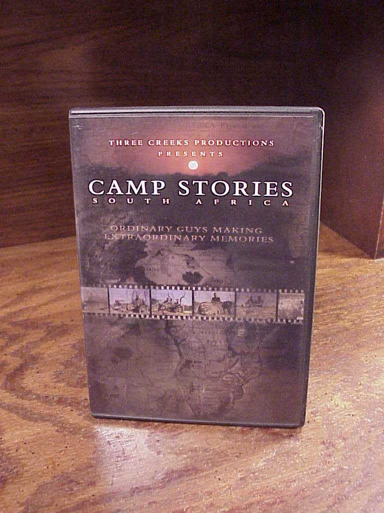 Primary image for Camp Stories South Africa Hunting DVD, with 22 Hunts, used, nice shape