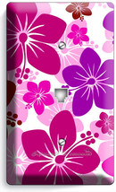Pink Hawaiian Hibiscus Flowers Phone Telephone Wall Plate Cover Girls Room Decor - $8.90
