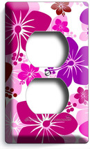 PINK HAWAIIAN HIBISCUS FLOWERS DUPLEX OUTLET WALL PLATE COVER BABY BEDRO... - $8.99