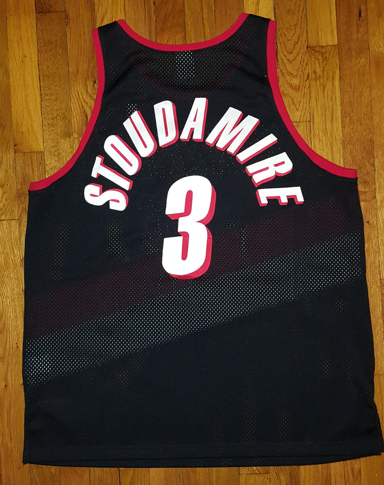 2c2d9aee579 Authentic Nike Portland Trailblazers Blazers Damon Stoudamire Road Jersey 52