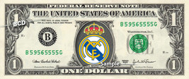 REAL MADRID FC Football Soccer on a REAL Dollar Bill Cash Money Collecti... - $7.77