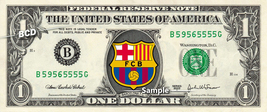 BARCELONA FC Football Soccer on a REAL Dollar Bill Cash Money Collectibl... - $7.77