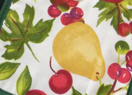 FRUIT theme POTHOLDERS Set of 2 Apple Pear Cherry Green Red Kitchen NEW image 2