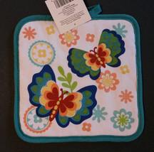 Butterfly Kitchen Set 4pc Towels Potholders Flowers Rainbow Butterflies NEW image 5